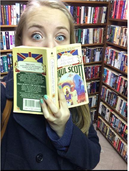Great Scott! Next year's editor-in-chief, Senior Mia Field, is reading a novel by Paul Scott!
