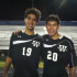 Blad and Danny at the second to last game of the season. They fought through the rain and thunder to help the team win in double overtime, 2-0.