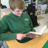 Freshman Joey Hatch spends his time in Warriors' Period reading! #wakefieldreads