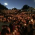 The candlelight vigil was organized by students in just one day.