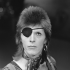 David Bowie is pictured here shooting his video for Rebel Rebel in AVRO's TopPop (Dutch television show) in 1974.