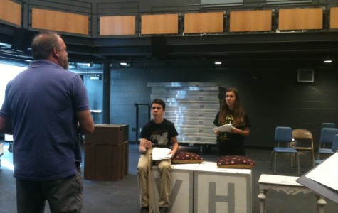 Mr. G coaches theater students on the fine art of character portrayal to gear up for the first play.
