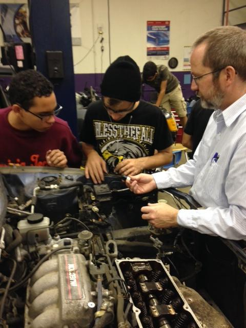 The career center has three dedication Auto Tech teachers helping Wakefield students become experts.