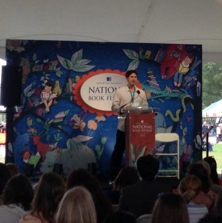 "Matt de la Peña, award-winning author of ""A Nation's Hope: The Story of Boxing Legend Joe Louis"" presents under the big, white tents."