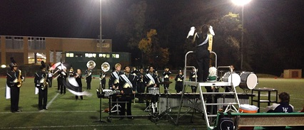 The marching band was crowned VA state champs!