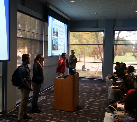 Cohort members hear about college life at ODU from Wakefield Alumni in early November.