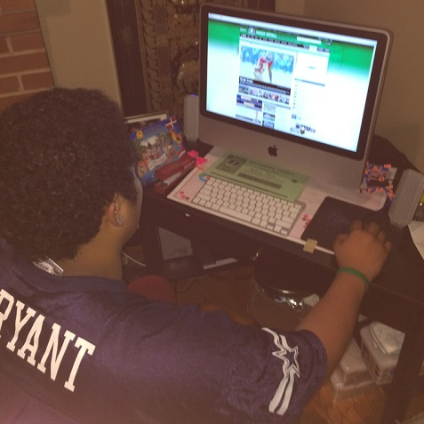 Anthony Tham '16 reviews his fantasy football team for the upcoming game.