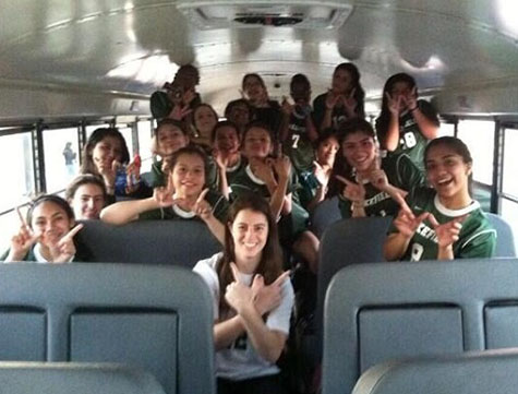 Bus rides to the away games can be the most fun.