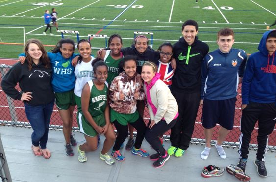 The Wakefield Track and Field Team participated in the Arlington County Championship at Bishop O'Connell High.