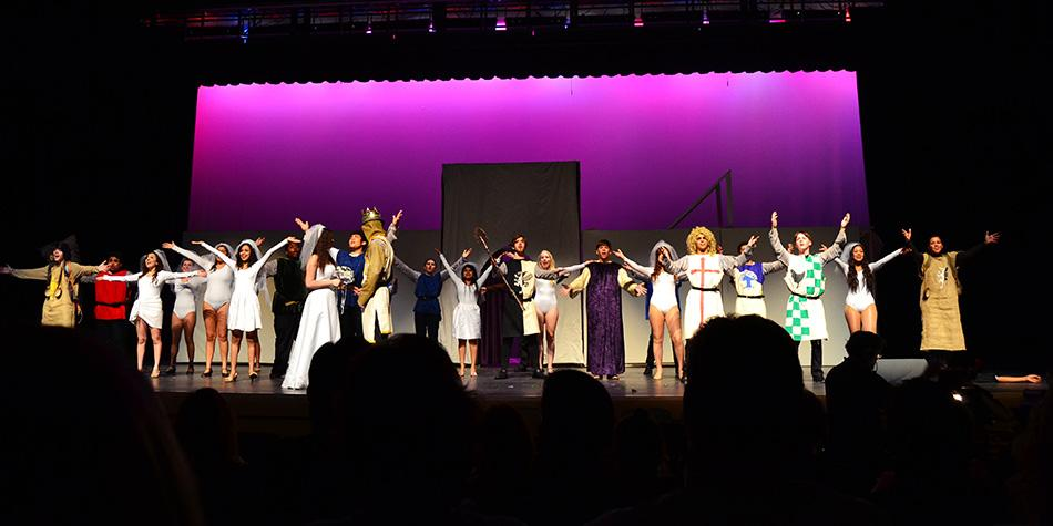 The cast and crew brought excitement and laughter to each of the four performances in the Wakefield Auditorium.