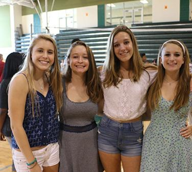 Freshmen Emma, Isabelle, Maggie, and Lindsay are ready for their high school adventure to begin at Wakefield.