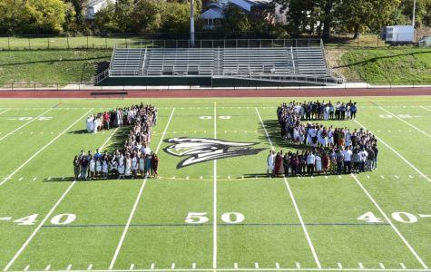 Senior picture day would not be the same without the new field!