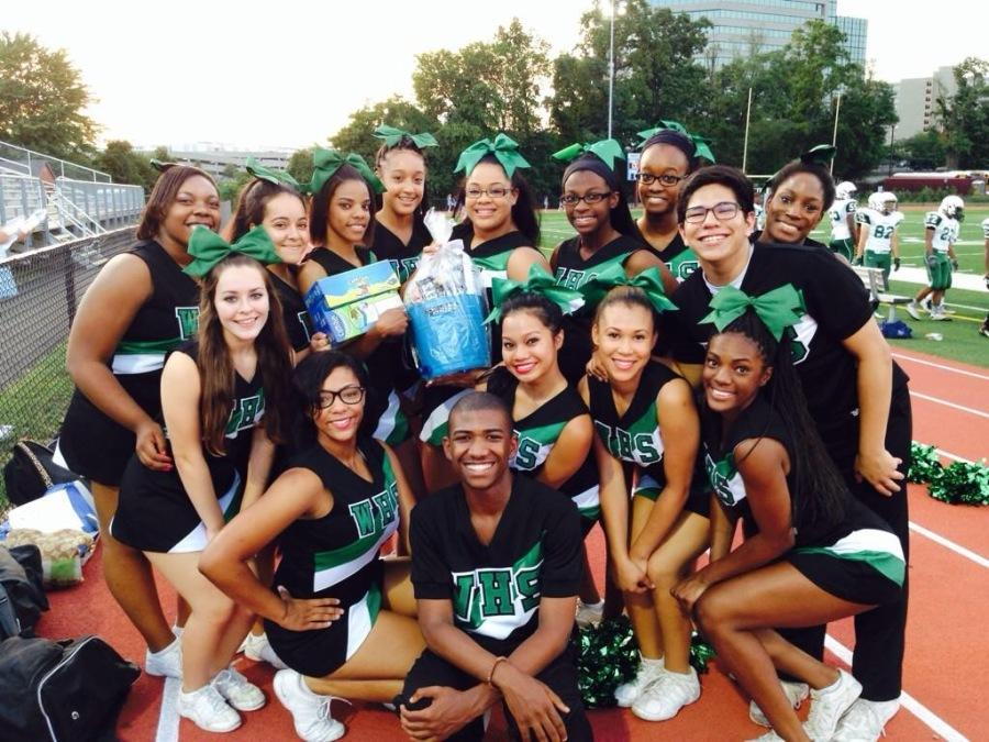 WHS cheerleaders take a picture before the first football game of the season!