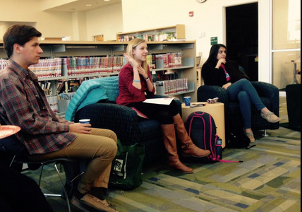 Girl Up club and Warriors Read club met in the library last week to discuss the ground breaking book, I Am Malala.