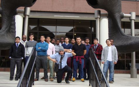Cohort boys are all smiles on campus.