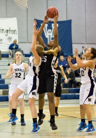 Girls Varsity Basketball Team Shines At Double Header Against W-L