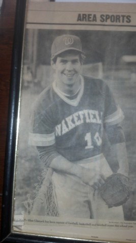 Throwback of Mr. Glasscock playing for Wakefield's baseball team!