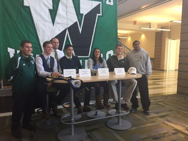 From Left to Right, Alejandro Quinonez (Drexel), John Fuquene (William & Mary), Taylor White (Monroe) and Riley Wilson (William & Mary) signed their NLI about 2 weeks ago.