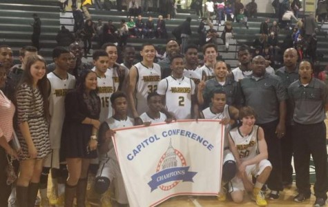 The team poses right after the final win against Edison which won them the Conference Championship.
