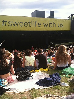 Hundreds of people litter the lawn and soak up the sun at Merriweather Post Pavilion for Sweetlife Festival each year.