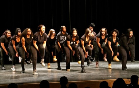 Wakefield's very own Step and Dance team perform a medley of movements. The show class, flash, and panache on stage.