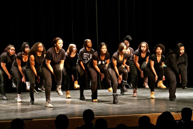 Wakefields very own Step and Dance team perform a medley of movements. The show class, flash, and panache on stage.
