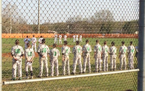 Wakefield lines up for the National Anthem before their win.