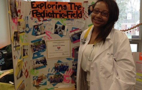 Who got an OUTSTANDING on her Senior Project? Jasmine!