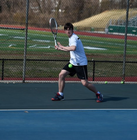 Jimmy gets ready to strike in his match against Yorktown, #beatyorktown. Come see him compete in the Conference 13 Championship; It is held at Wakefield on 5/11, 5/13, 5/18, and 5/20.