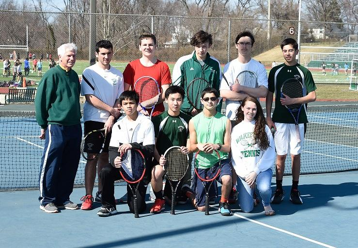 The tennis team has been playing hard and having fun this year.