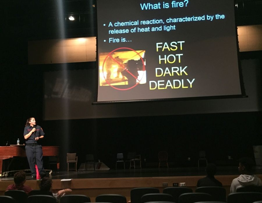 The Red Cross Club hosted a fire safety talk in the auditorium last week.