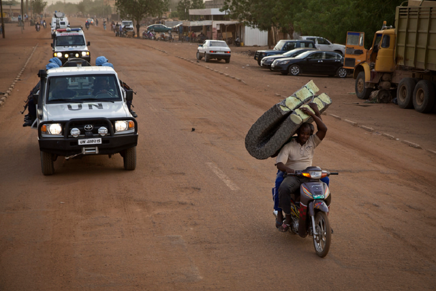 United Nations patrol the streets in Gao, Mali