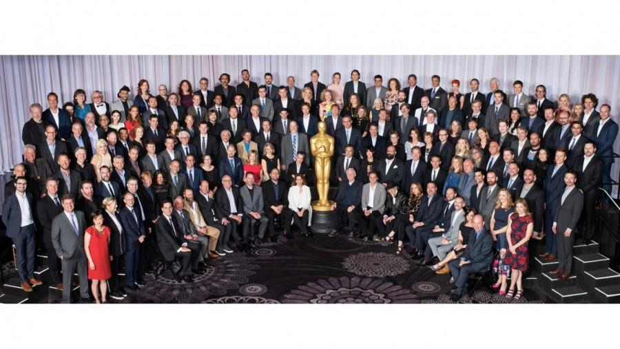 The Oscars 2016 nominees attend a luncheon on February 9th.  I spy a lack of diversity, do you?