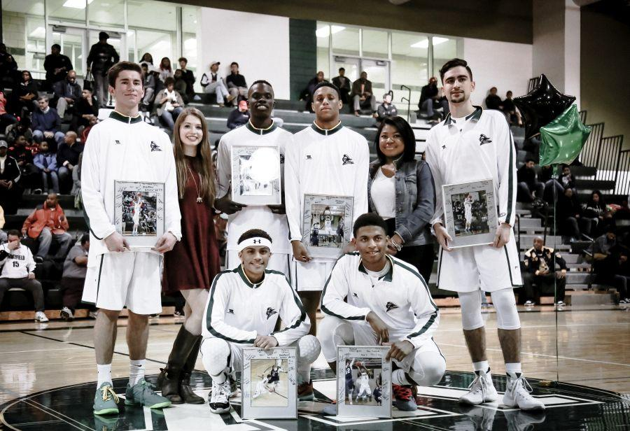 Senior Night for Tim, Marisa, Deng, Xavier, Jasmine, Gustavo, Eric, and Richard.