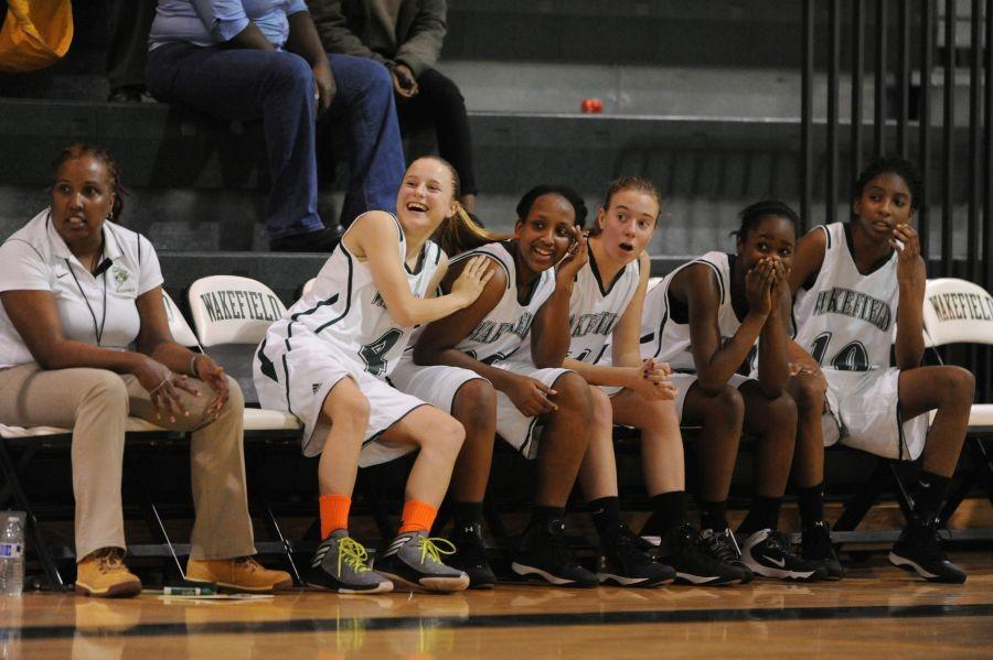Coach Z and the ladies react to a humorous moment on #homecourt, #warriornation.
