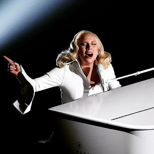 Lady Gaga performing at The Oscars on Sunday.   License per CC: http://tinyurl.com/z3povfp