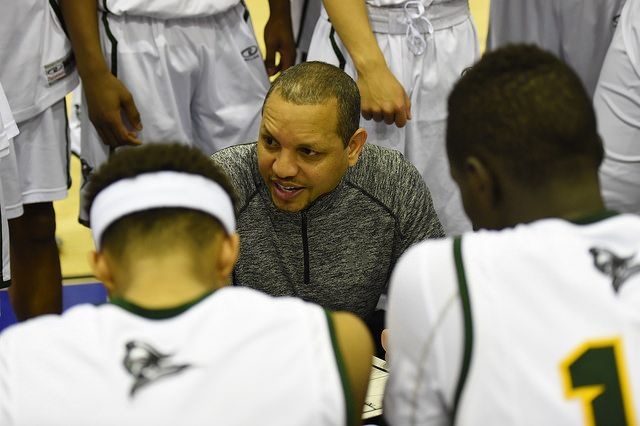Coach Bentley kept the boys focused the whole game. #intensity