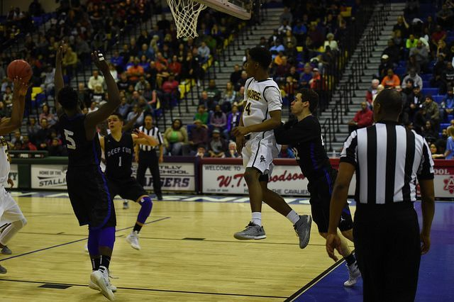 Halil Parks gets some air during the game.