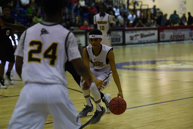 Eric Martin is poetry in motion as he moves down the court.