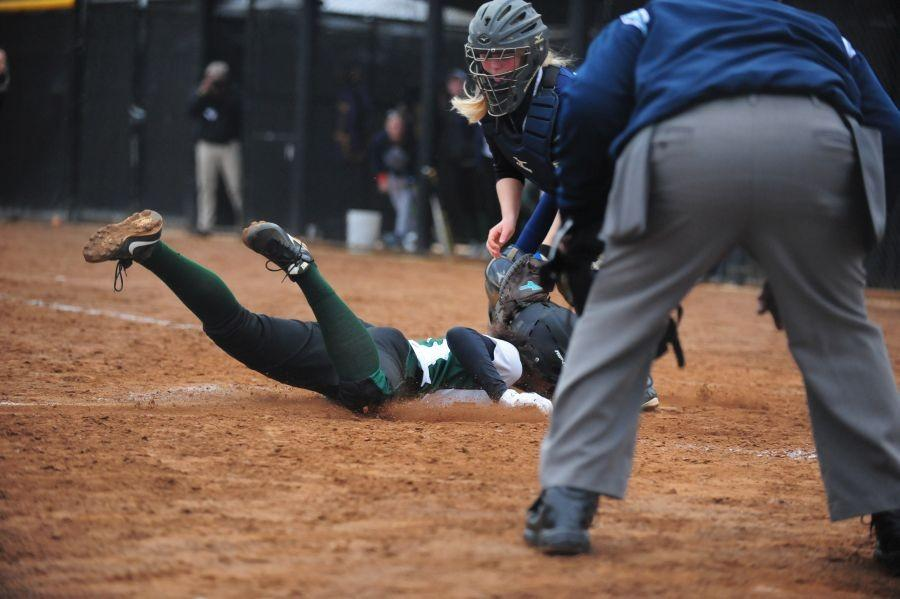 Junior RaShawn Parent is safe on base, but how about a concussion?