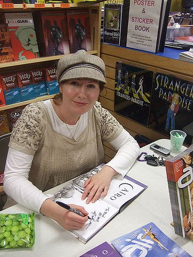 The author, G. Willow Wilson, at Comicopia in 2009.