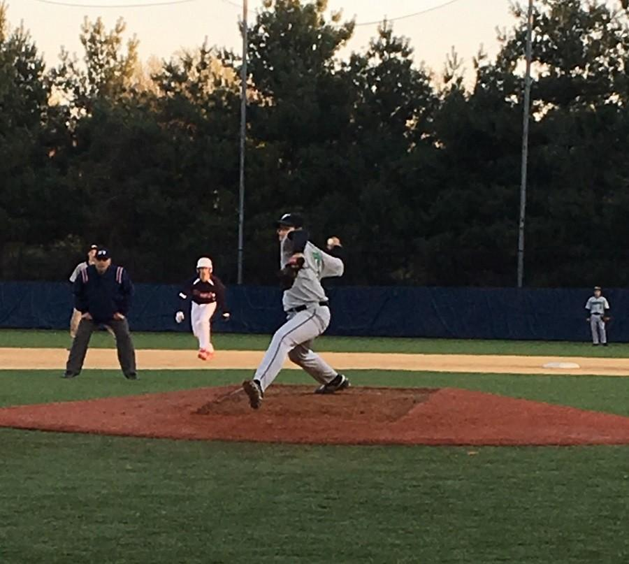 Junior Jaime Segui delivers the pitch against Stuart