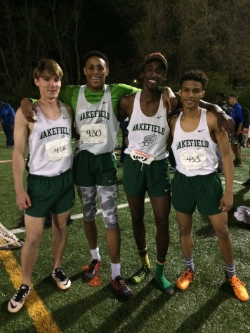 The 4X4 team poses for a picture. Xavier's shoe is still off from when he lost it during the race.