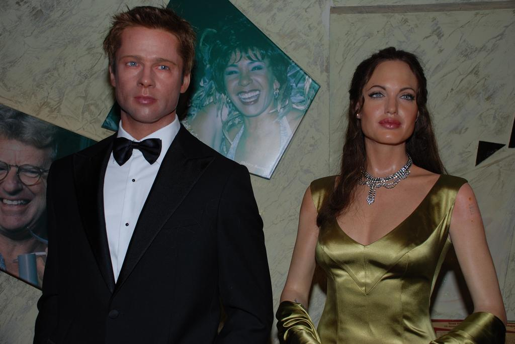 Their relationship was as fake as these wax figures.