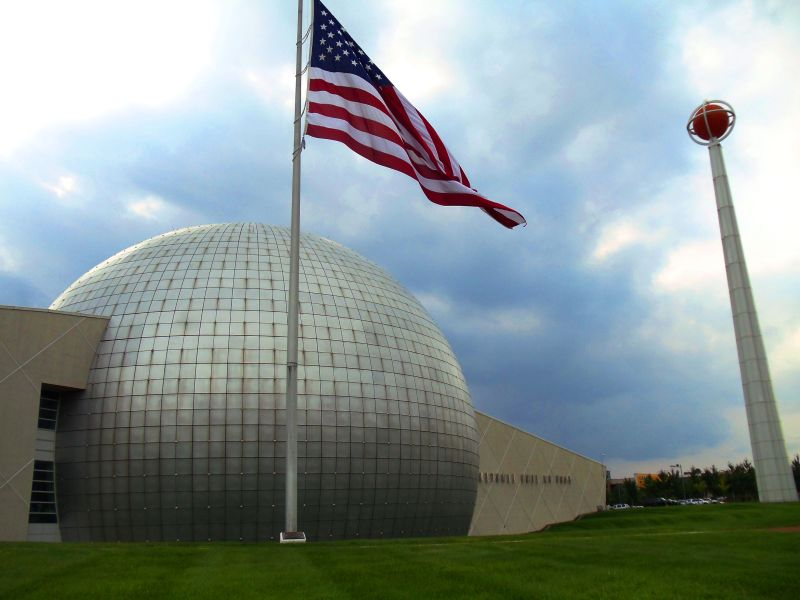 The Hall of Fame is so centered on basketball that even the building is a ball.
