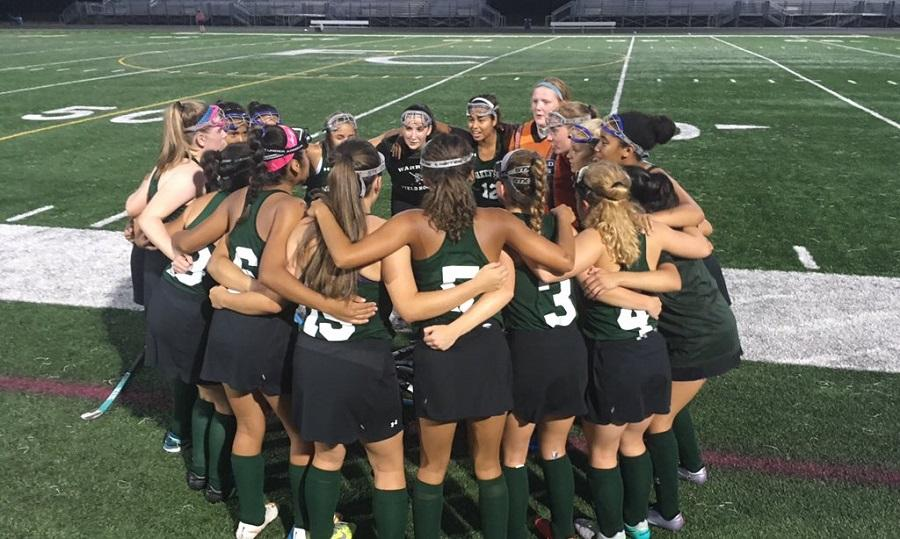 The girls get ready to go before a recent win over Falls Church.