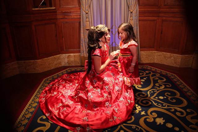 Elena+greets+a+young+Princess+Elena+at+Disney+World.+