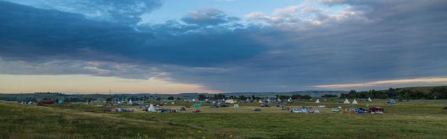 Dakota Access Pipeline protest at the Sacred Stone Camp near Cannon Ball, North Dakota.