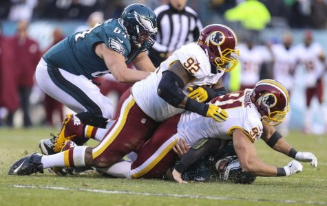 Ryan Kerrigan sacks Carson Wentz to seal the game.