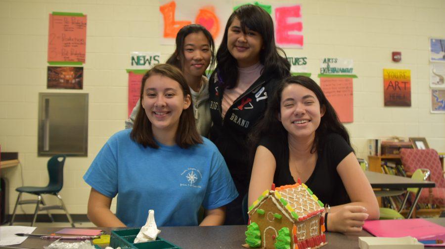 Freshman Sophie Hott, Kimberley Rendon, Sophomore Qiao Huei and Junior Diana Alejandra Rivas Arenas